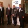 v.l.n.r.: Lars Gempp(BME), Armin Schuster(CDU), Alfred Schmit(SWR), Stefan Brenner(BME)